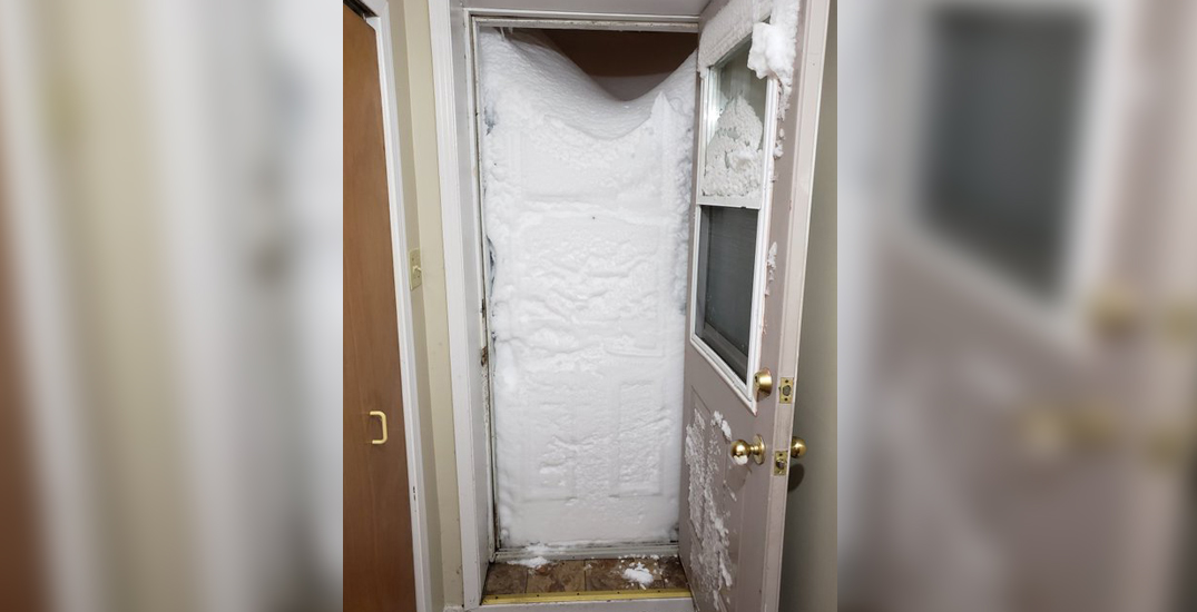 Newfoundlanders are literally snowed in and can't get outside