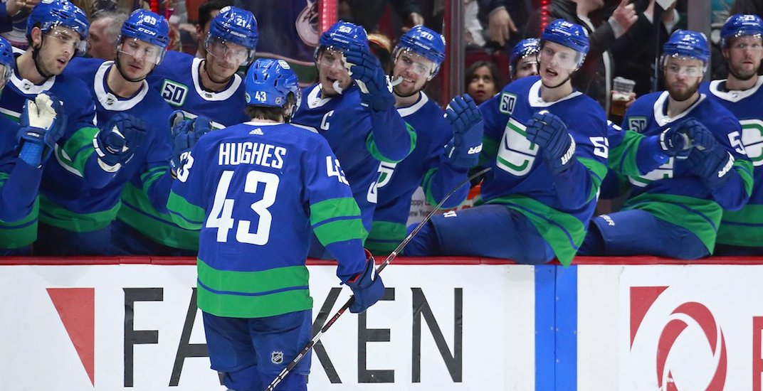 Canucks take over sole possession of first place in the Pacific Division