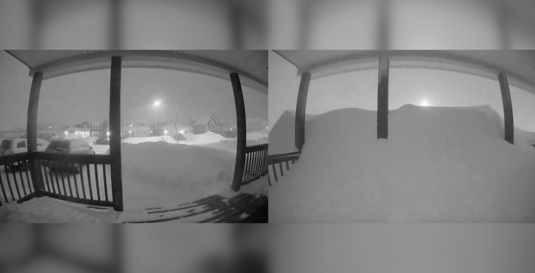 Incredible timelapse shows how fast Newfoundland snow accumulated (VIDEO)
