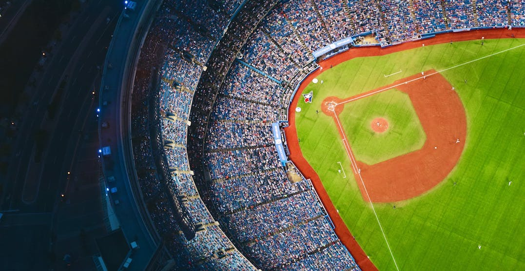 The Blue Jays are inviting Toronto to do yoga on the Rogers Centre field this spring