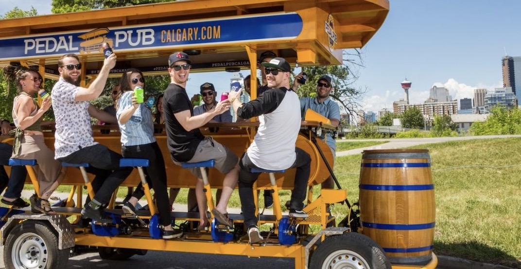 Pedal Pub is offering beer bike Stampede tours in Calgary this summer