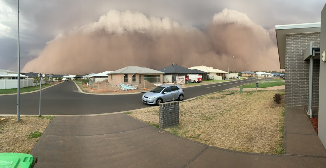 Australia is now dealing with a massive dust storm, violent hail, and flash floods