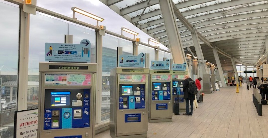 Canada Line wayfinding signage at YVR Airport Station upgraded for tourists