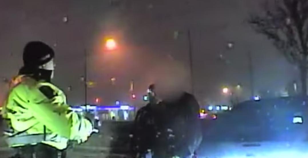 Police arresting alleged impaired driver find gun, ammunition in vehicle (VIDEO)