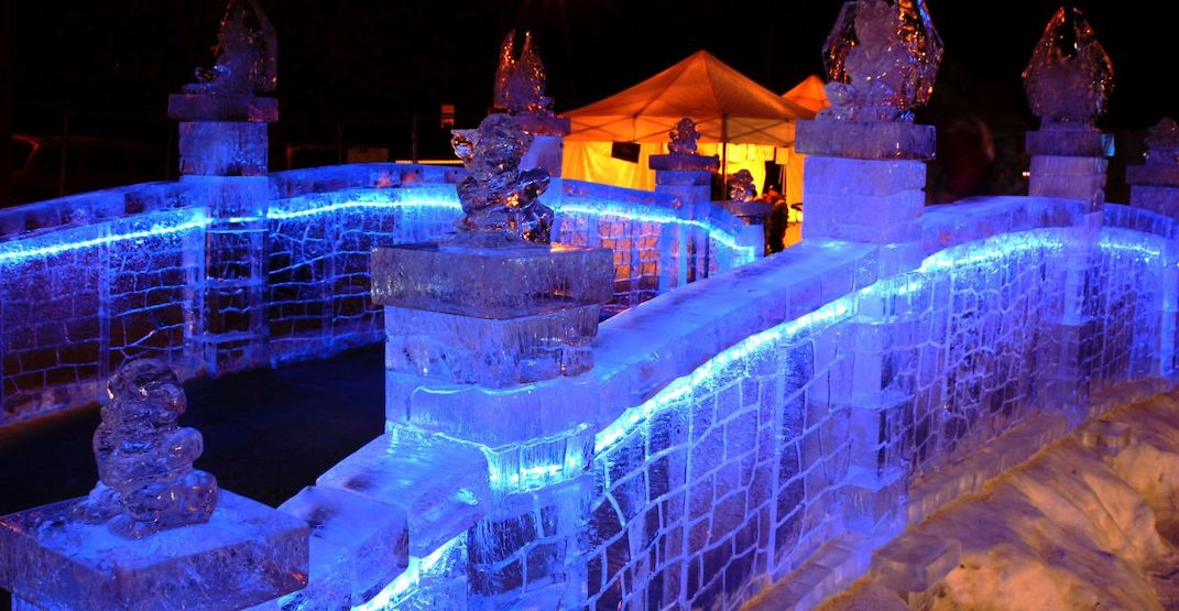 Watch incredible ice sculptors in action at Ice on Whyte in Edmonton