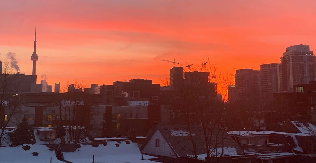 26 photos of the fiery sunrise that rose over Toronto this morning