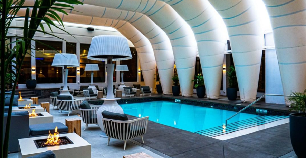 Take a look at Hotel Arts' all-season outdoor pool (PHOTOS)