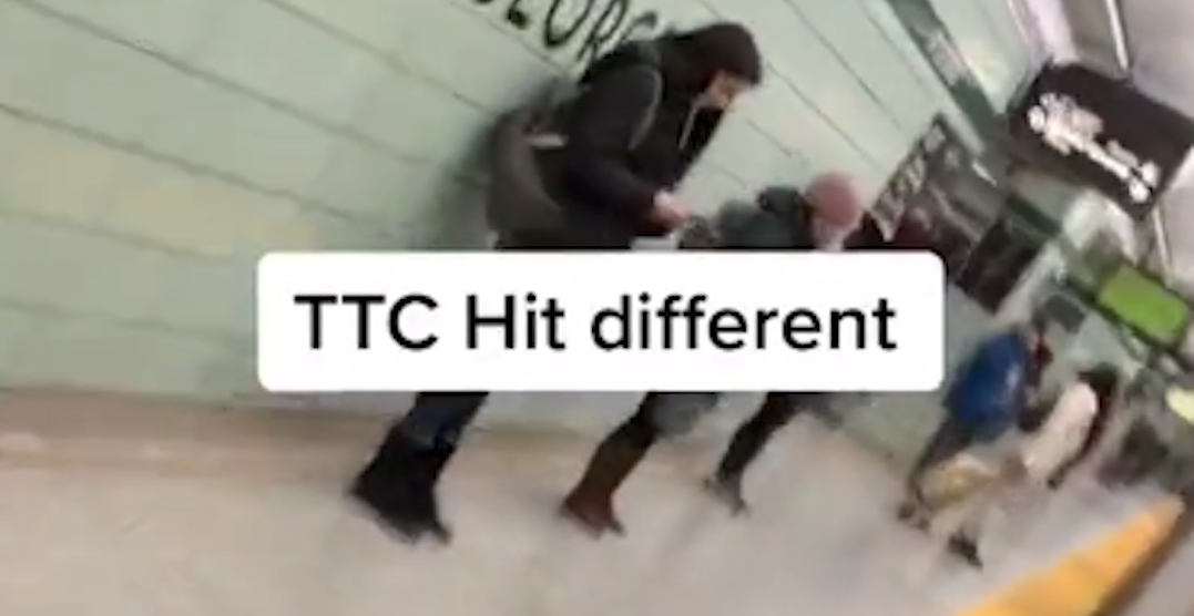 Someone made a TikTok with their arm hanging out of moving TTC Subway