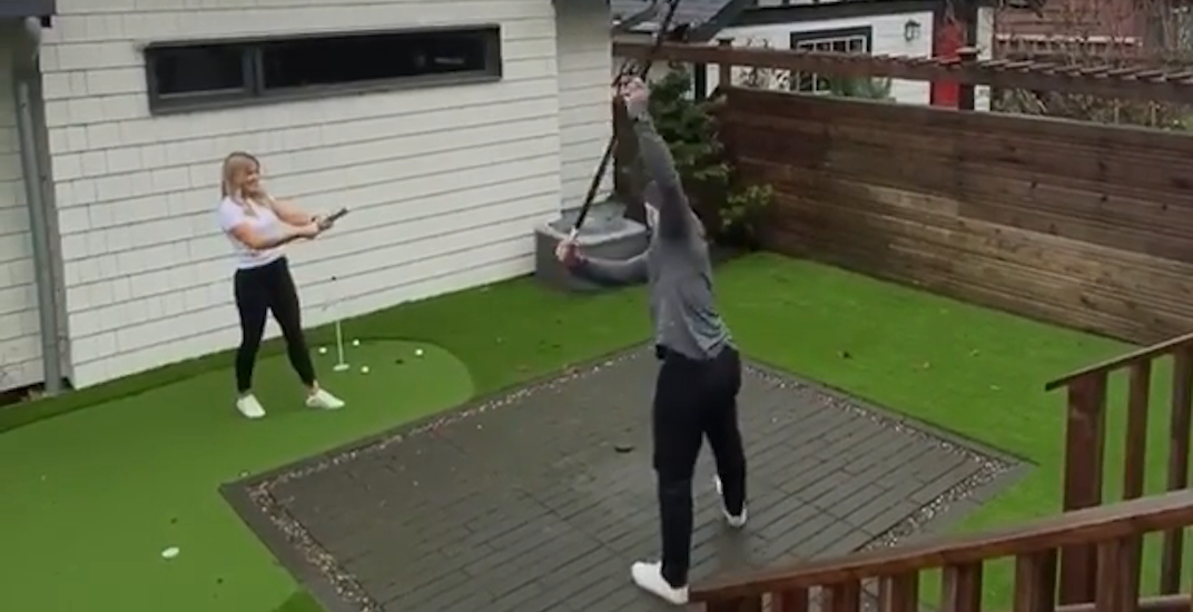 Canucks captain Bo Horvat has hockey-themed baby gender reveal (VIDEO)