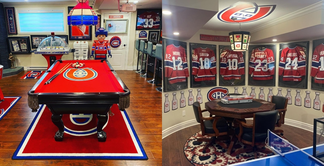 This Montreal Canadiens fan has a seriously impressive 'Habs Cave' (PHOTOS)