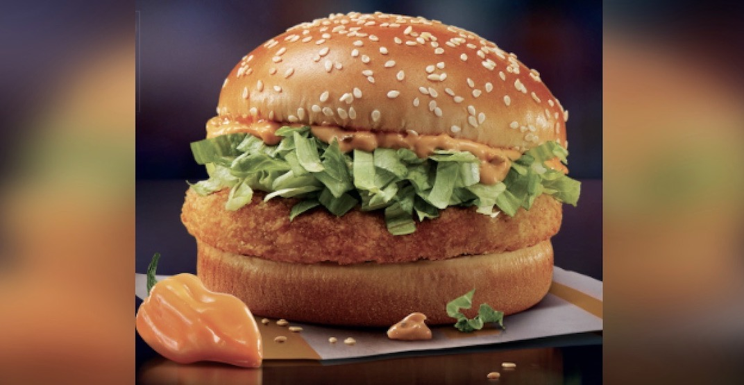McDonald's launches new Spicy Habanero McChicken across Canada