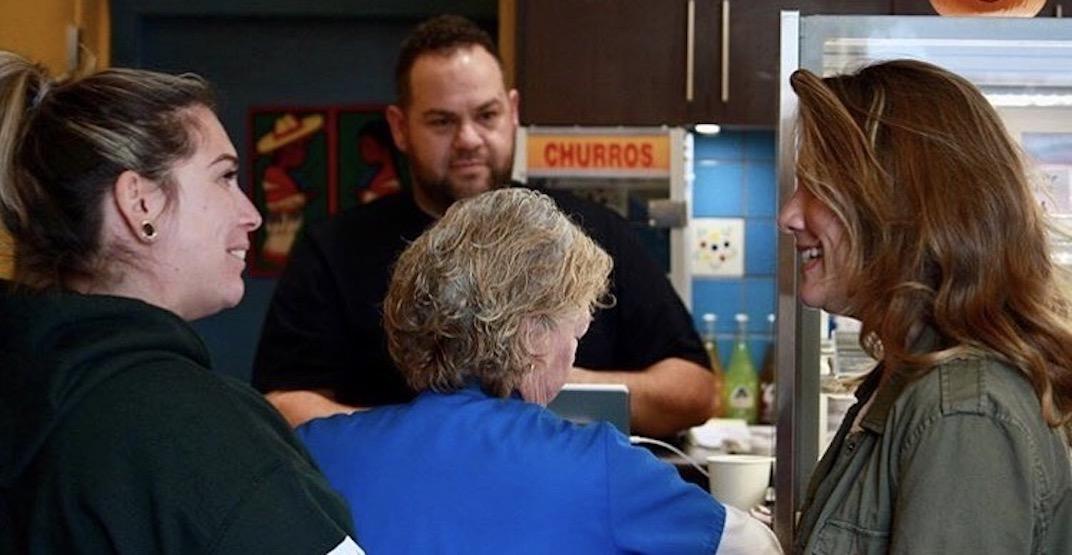Sophie Trudeau was spotted in Ladner's Boca Grande Donut Shop