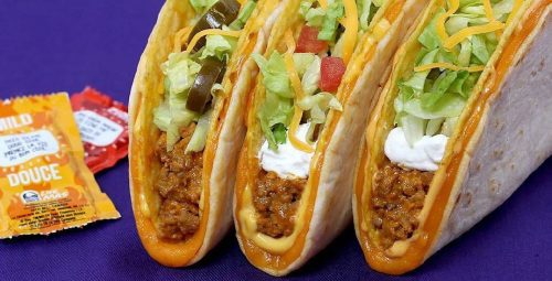 Taco Bell FREE tacos February 6 to 8 with clothing donation-