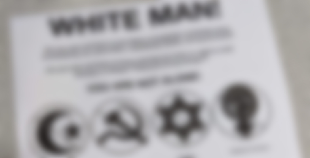 Police investigating after white supremacist flyers found in East Vancouver