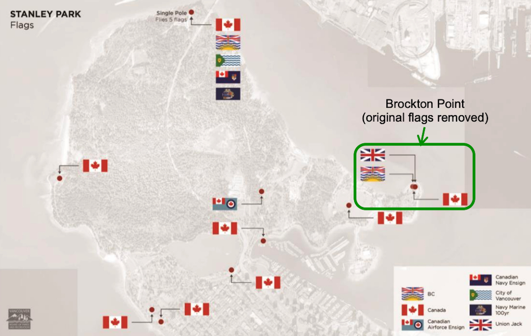 stanley parks flag map