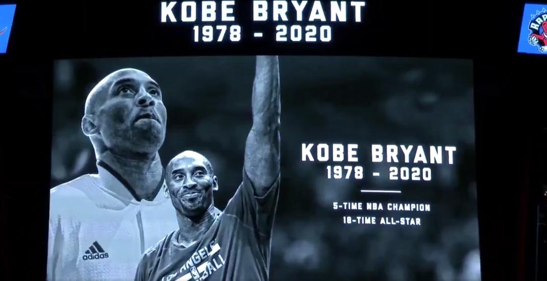 Raptors honour Kobe Bryant with pre-game video tribute (VIDEO)