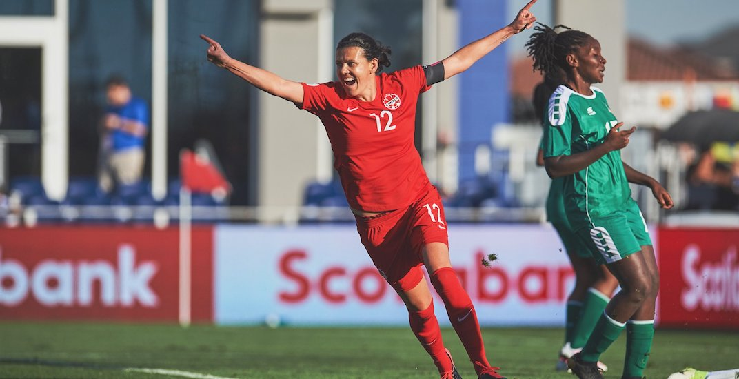 Canada's Christine Sinclair breaks all-time international goals record