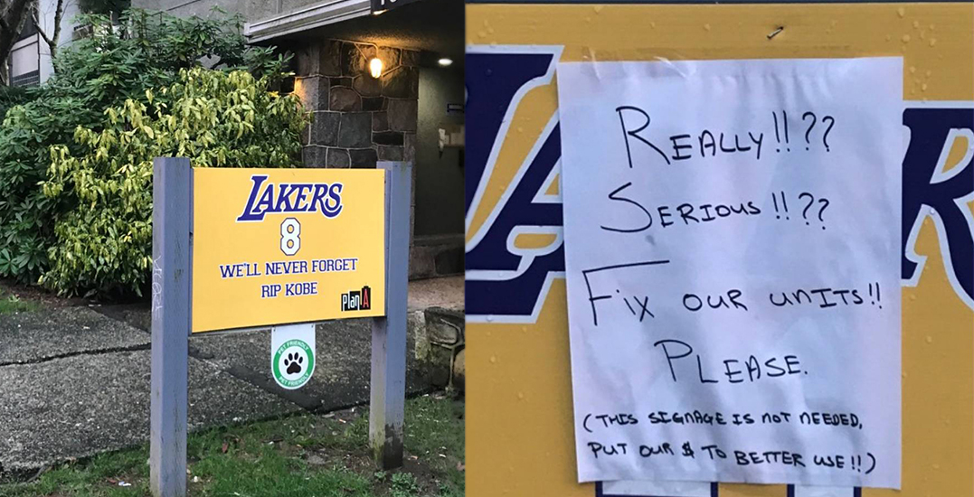 Kobe Bryant tribute at West End apartment sparks outrage among tenants