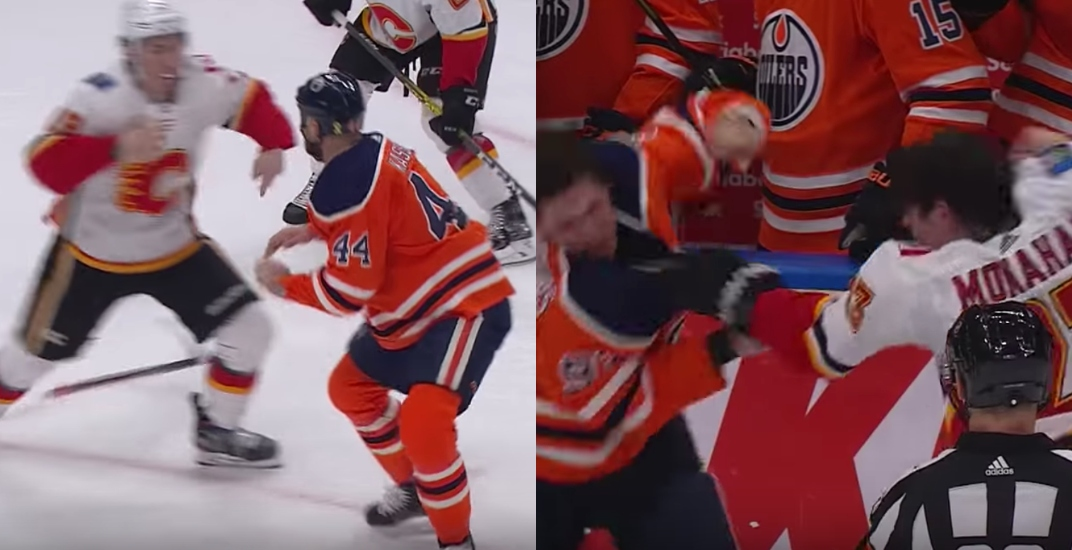 Flames-Oilers rematch delivered fights as promised (VIDEOS)