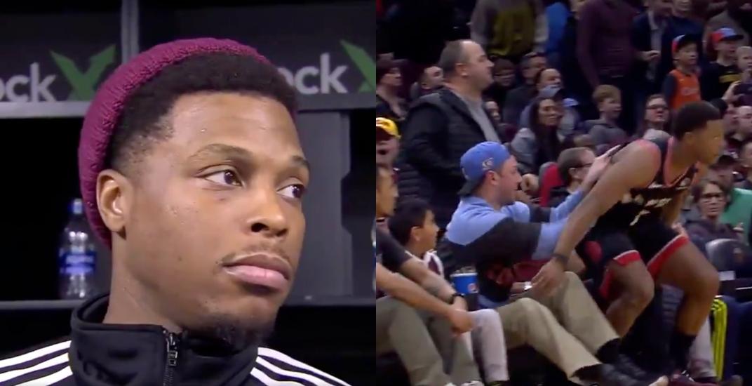 Raptors' Kyle Lowry sounds off after Cleveland fan pushes him