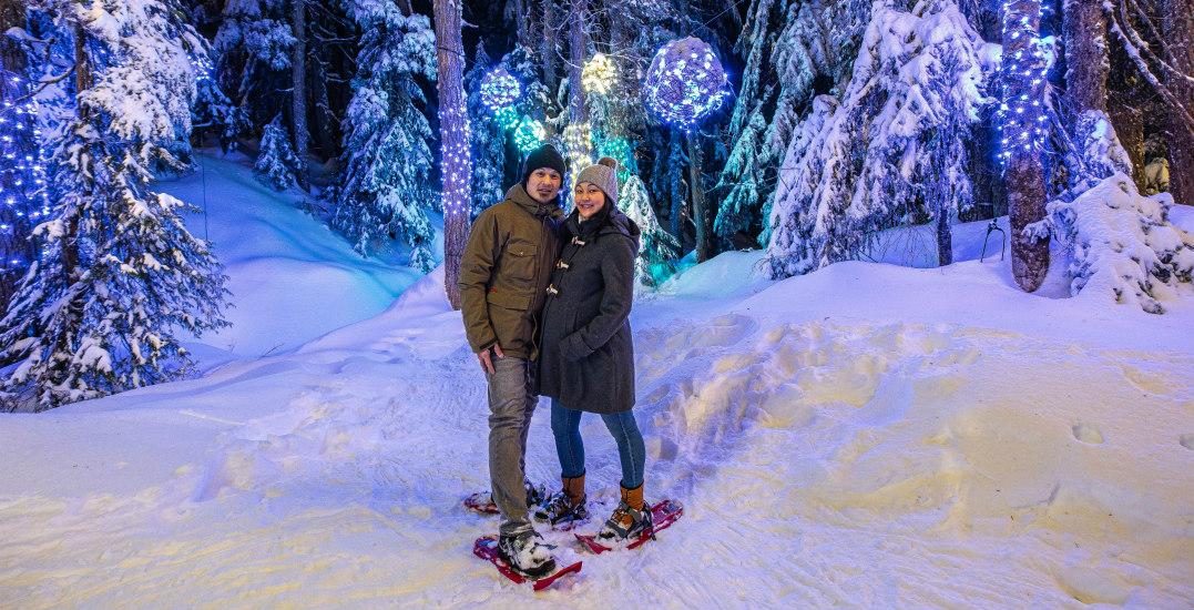Cypress announces starlit snowshoe trek through a lit-up forest loop