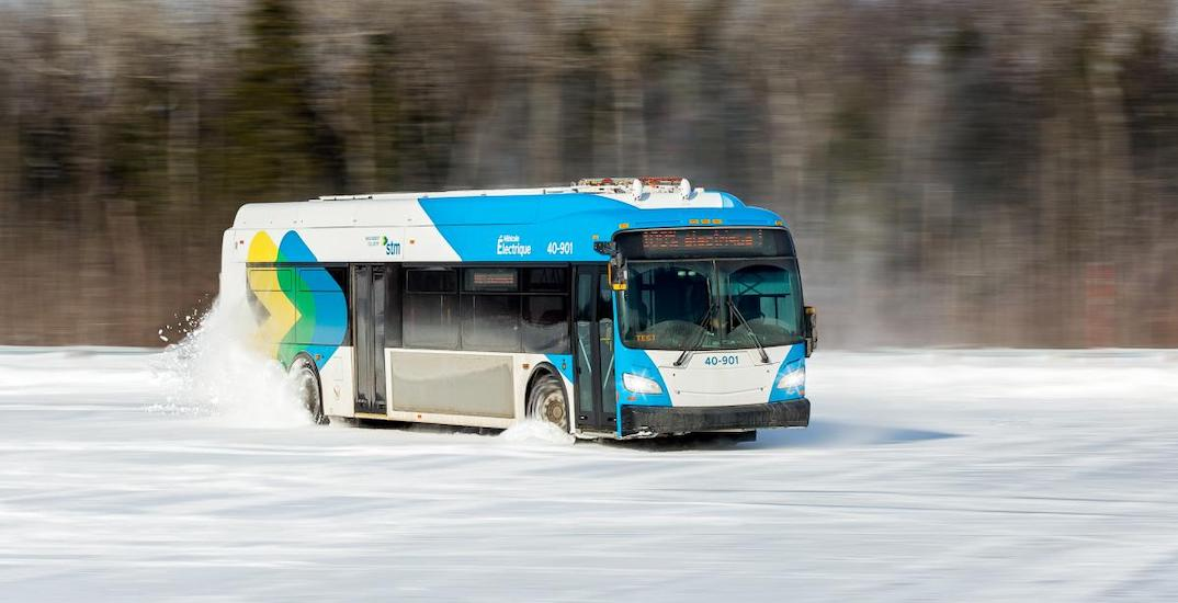 STM's new electric buses went off-roading this weekend (VIDEOS)