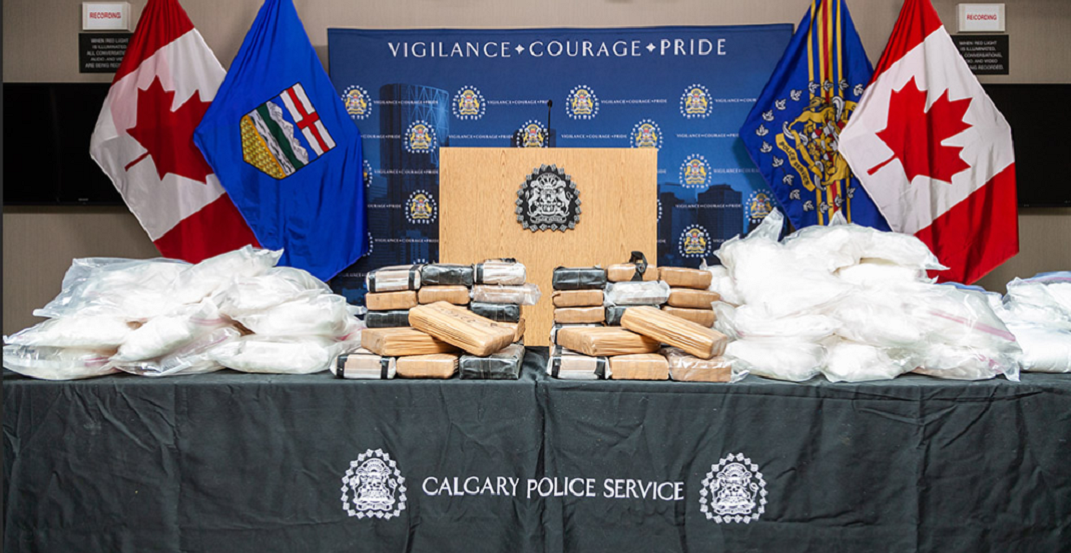 Calgary Police Service seized nearly $10 million worth of drugs