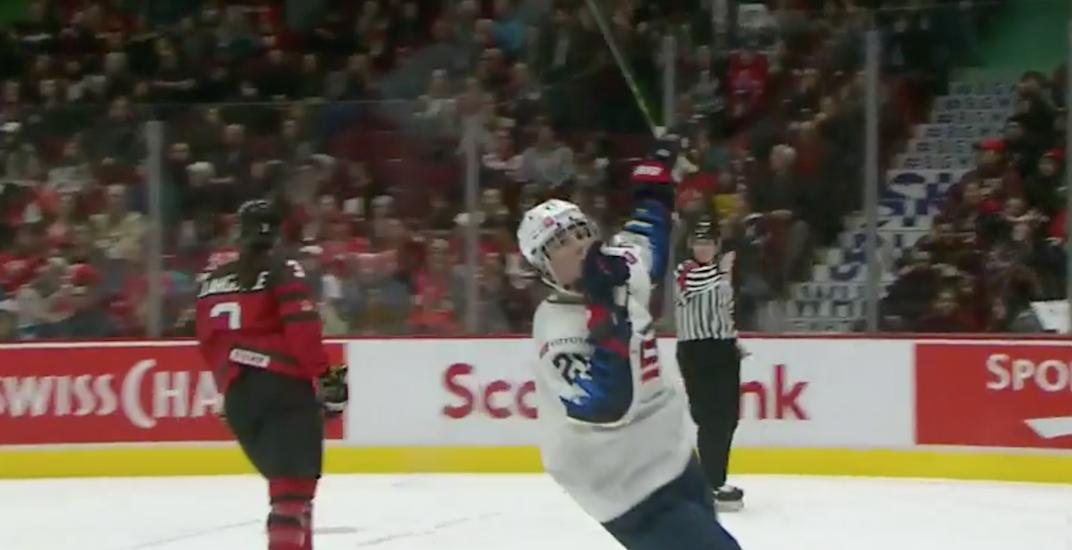 USA's Hilary Knight explains why she shushed Canadian hockey fans