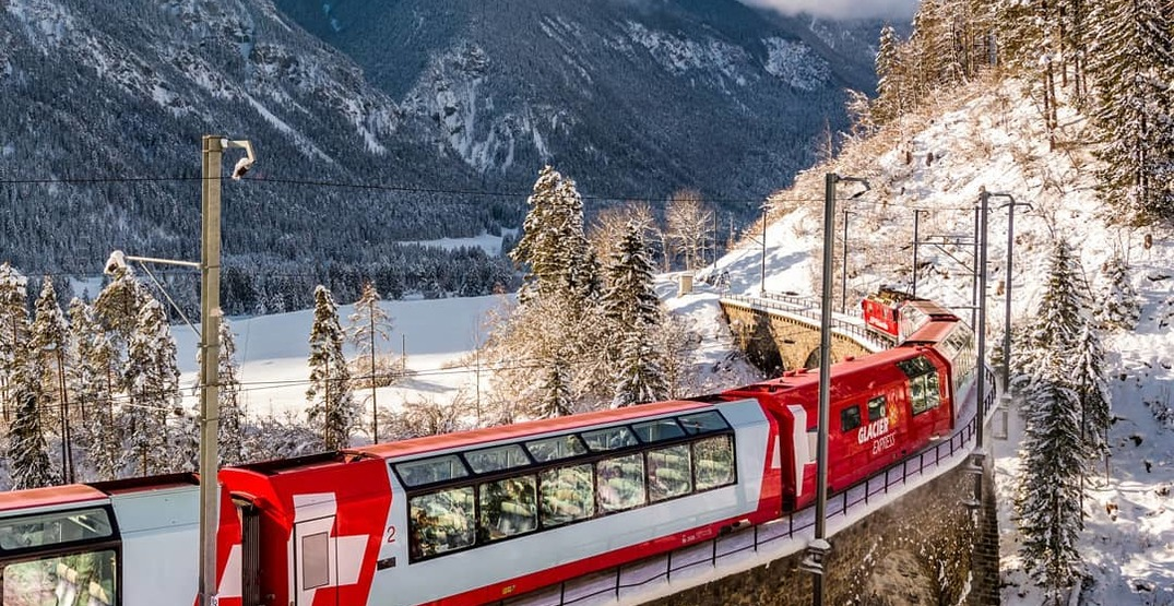 The Glacier Express takes you on an epic train ride through the Swiss Alps