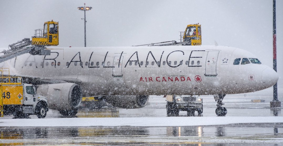 Heavy snowfall causes delays and cancellations at Toronto Pearson Airport