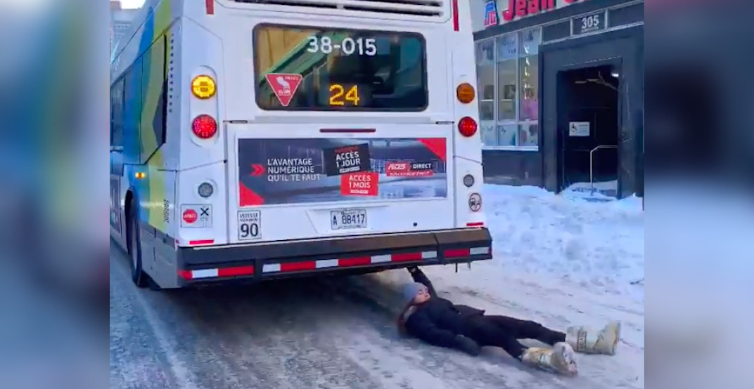 "Montreal police investigating viral ""bus surfing"" stunt (VIDEO)"