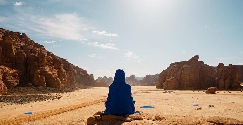 A desert in Saudi Arabia has transformed into an outdoor art exhibition