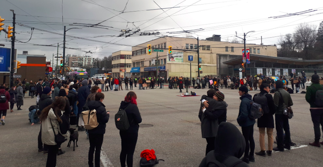Multiple bus detours due to demonstration at Cambie and Broadway: TransLink