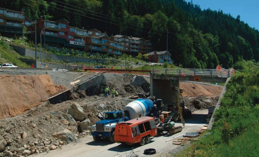 sea to sky highway upgrade construction