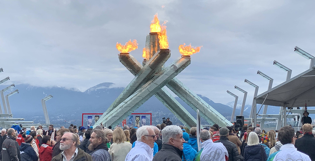 Vancouver lights Olympic Cauldron on 10th anniversary of Winter Games (PHOTOS)