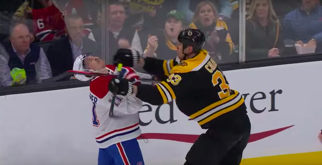 NHL fines Bruins' Chara for cross-checking Canadiens' Gallagher in the face (VIDEO)
