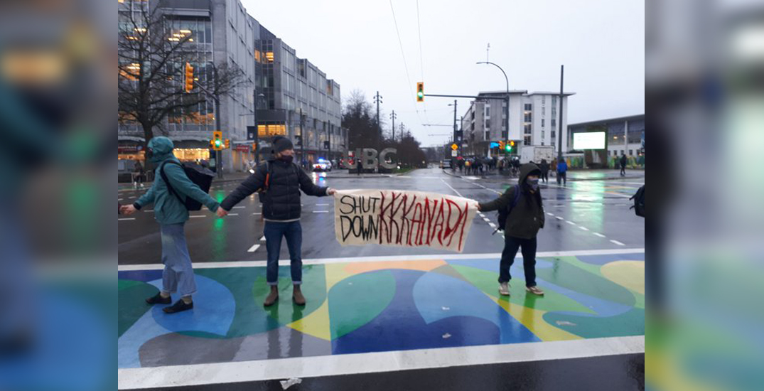 Wet'suwet'en solidarity demonstrations continue in Kitsilano and at UBC