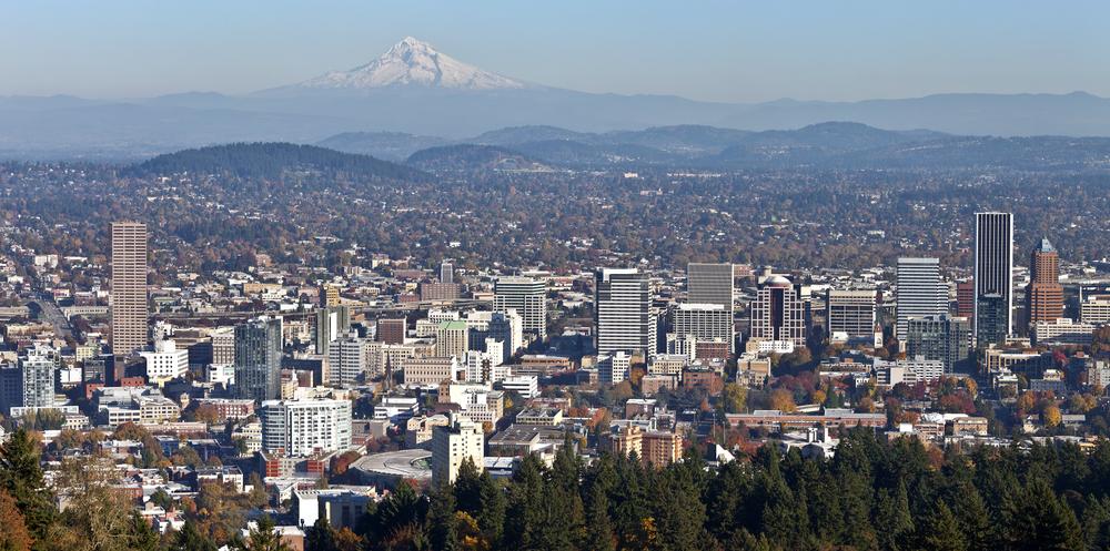 Throwback Thursday: Portland Skyline ft. Mount Hood