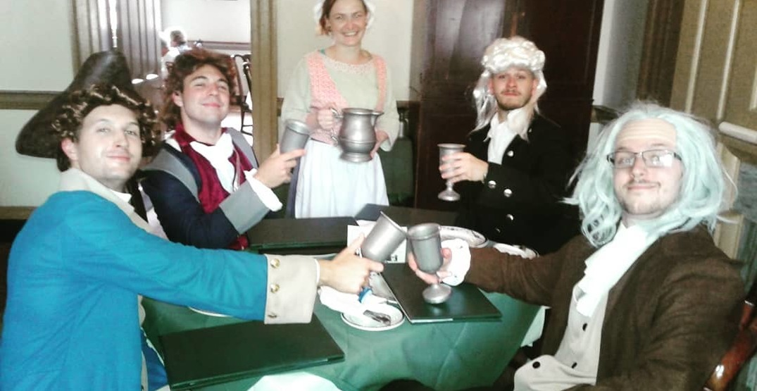 Travel back in time to 1776 at this Philadelphia tavern and restaurant