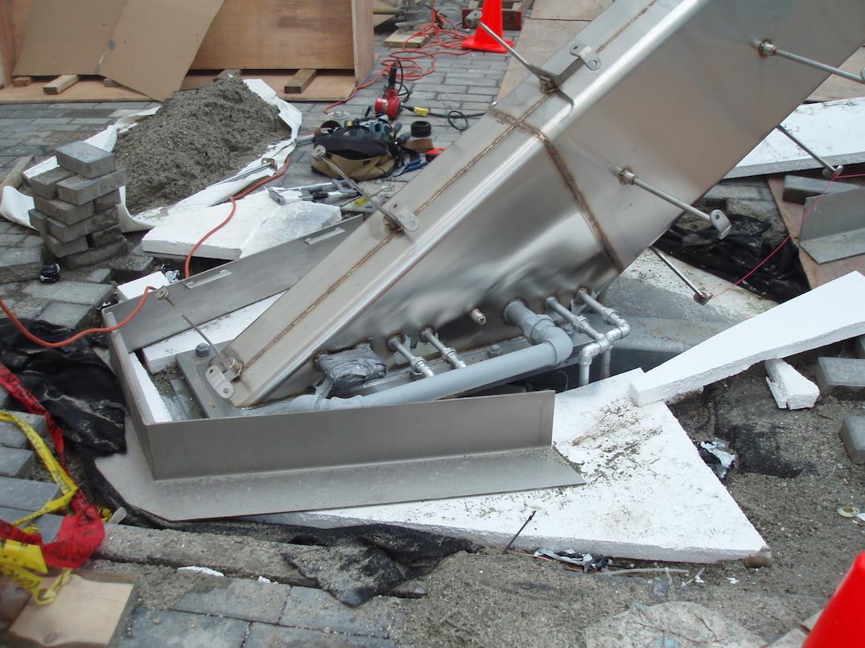 Vancouver Olympic Cauldron construction