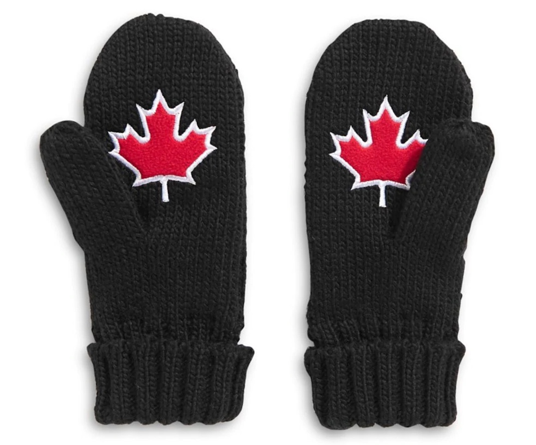 vancouver 2010 black olympic mittens