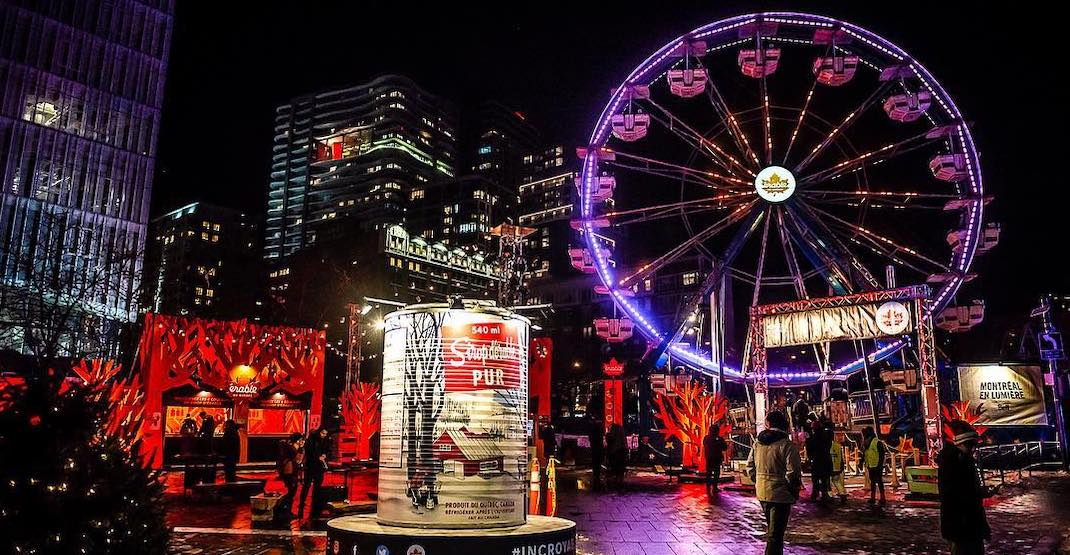 Take a free ride on this neon-lit ferris wheel in Montreal starting this week
