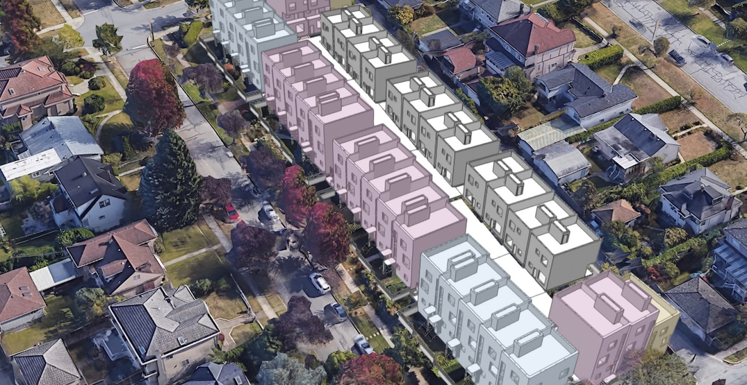 Largest townhouse redevelopment yet proposed for Vancouver's Cambie Corridor