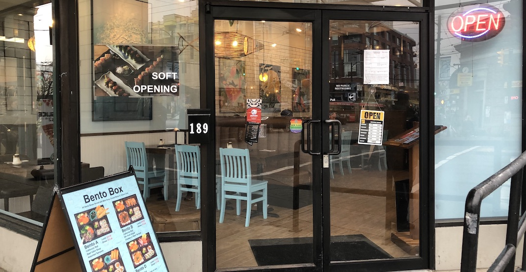 Sushi Kaido has quietly soft opened in Mount Pleasant