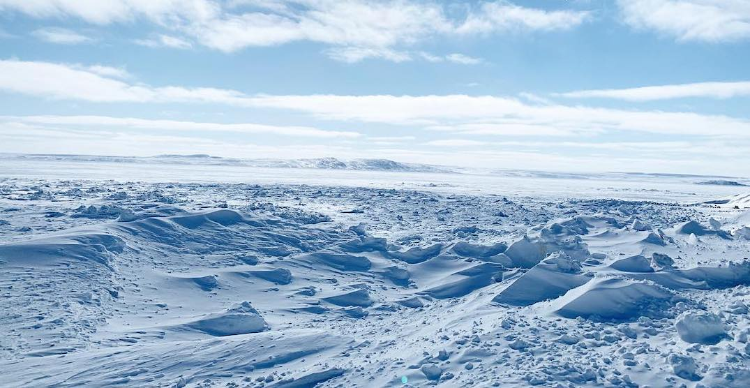 Parts of northern Quebec feel like close to -50ºC today