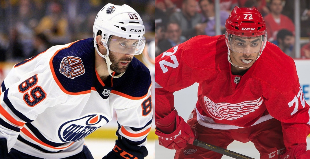 Oilers acquire Athanasiou in trade with Red Wings for Gagner, draft picks