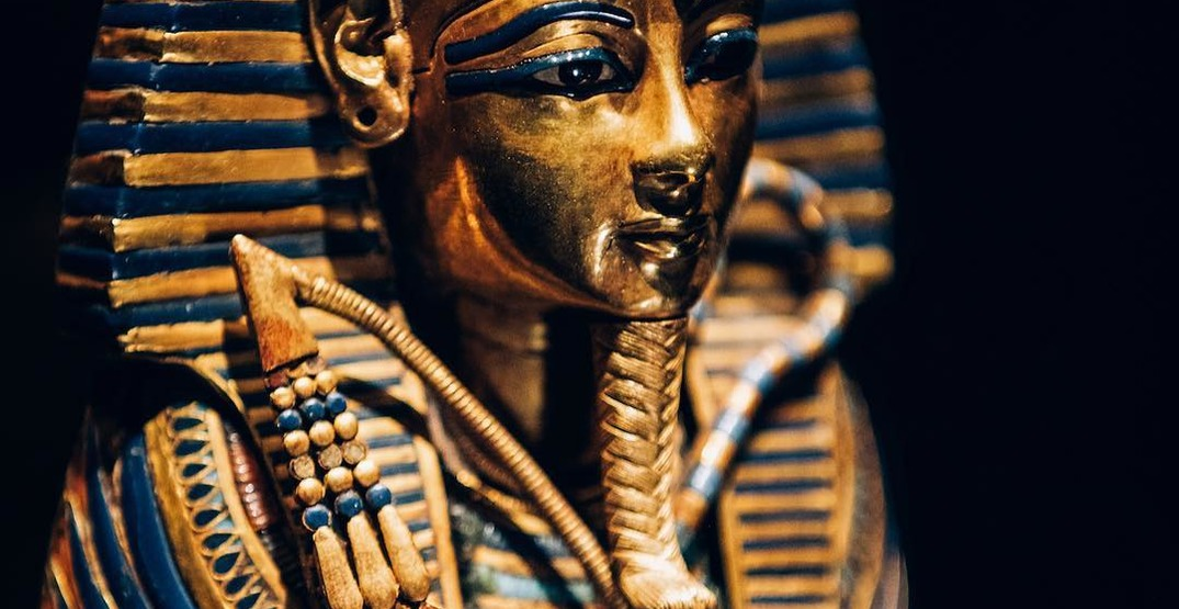 There's a touring exhibition displaying King Tut's treasures opening in the US