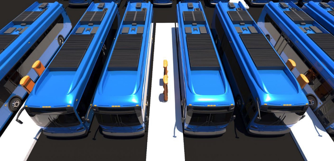 electric battery bus charging depot 1