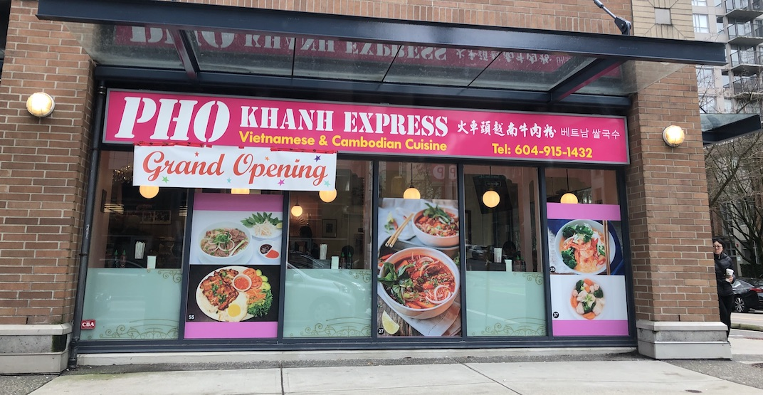 New spot Pho Khanh Express opens in downtown Vancouver