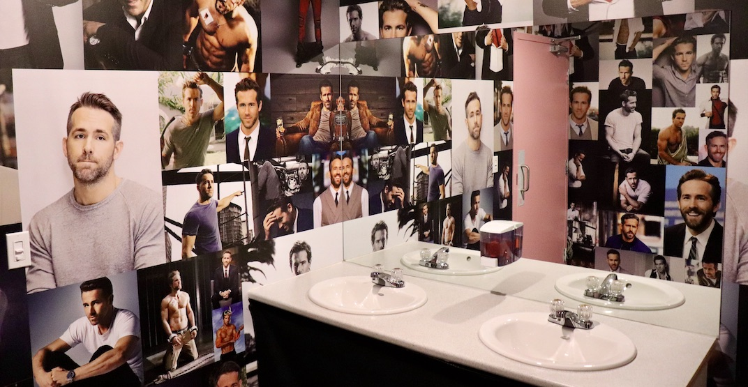 Glitch Retro Arcade Bar has a bathroom entirely dedicated to Ryan Reynolds
